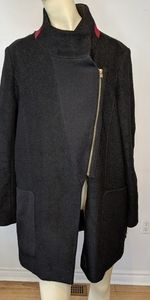 DKNY  wool/ polyester black winter coat